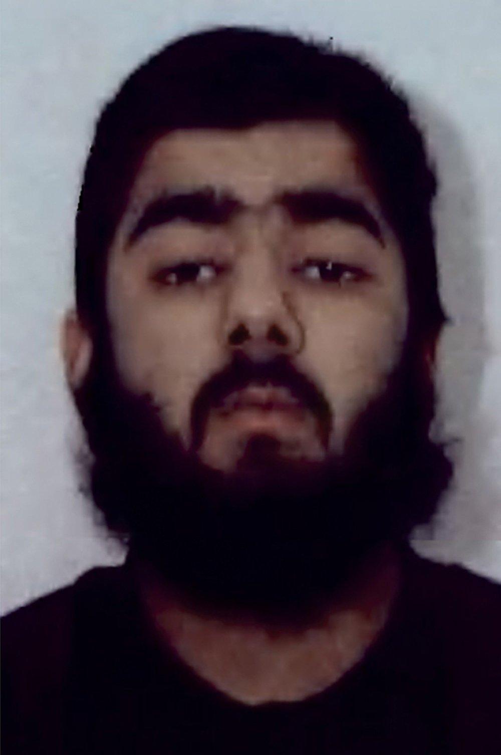 Klikk på bildet for å forstørre. 28 år gamle Usman Khan sto bak knivangrepet på London Bridge fredag, ifølge politiet.