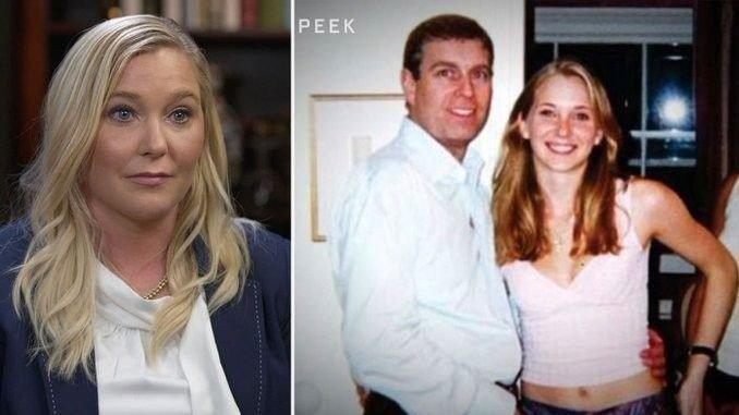 Klikk på bildet for å forstørre. Virginia Giuffre hevder at hun som mindreårig ble tvunget til å ha sex med prins Andrew ved tre anledninger mellom 1999 og 2002. Til høyre der man bildet Virginia Giuffre hevder er hennes sammen med prinsen.