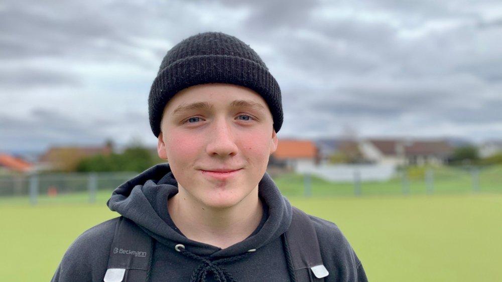 Klikk på bildet for å forstørre. - Vi burde ha mer om klima på skolen og mer om hvordan vi kan forhindre klimautslipp, sier Elias Kristiansen, som går i 9. klasse på Kristianslyst skole i Stavanger.