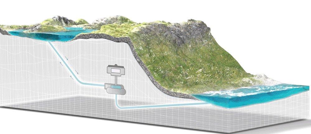Klikk på bildet for å forstørre. Slik vil et pumpekraftverk ved Lysefjorden kunne plasseres.