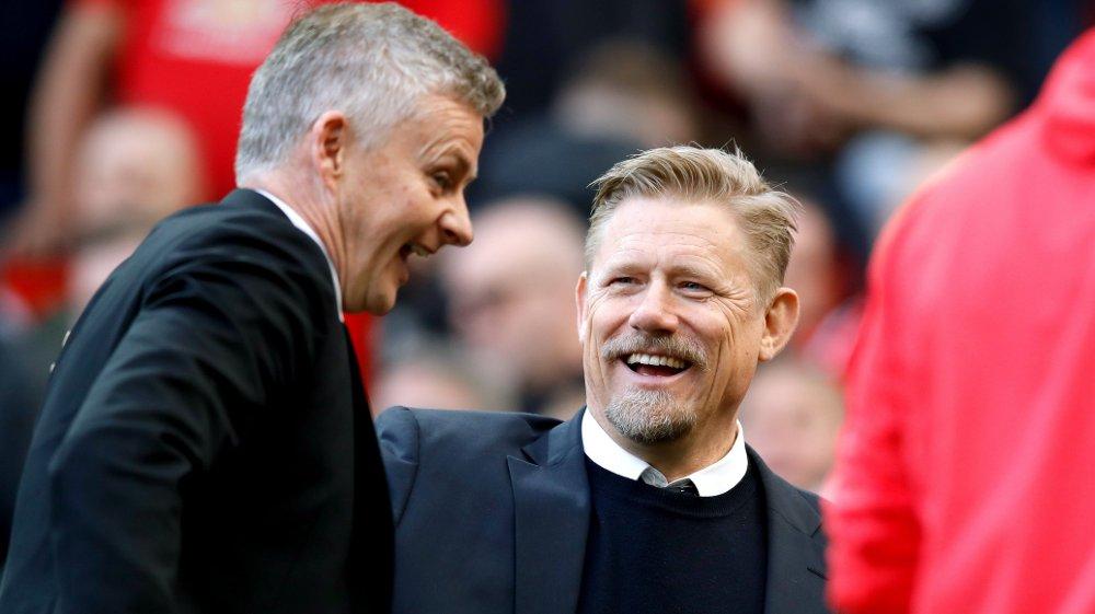 Klikk på bildet for å forstørre. IMPONERT: Peter Schmeichel mener Ole Gunnar Solskjær gjør en veldig god jobb i United, men vet at presset vil være tilbake ved neste tap.