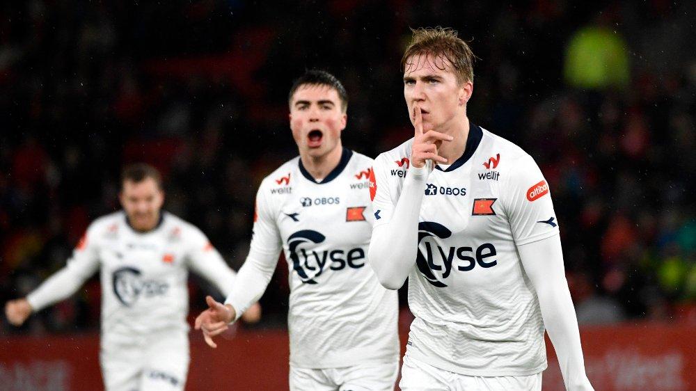 Klikk på bildet for å forstørre. HYSJ: Thorstvedt avsluttet Eliteserie-sesongen med å score to mål mot Brann.