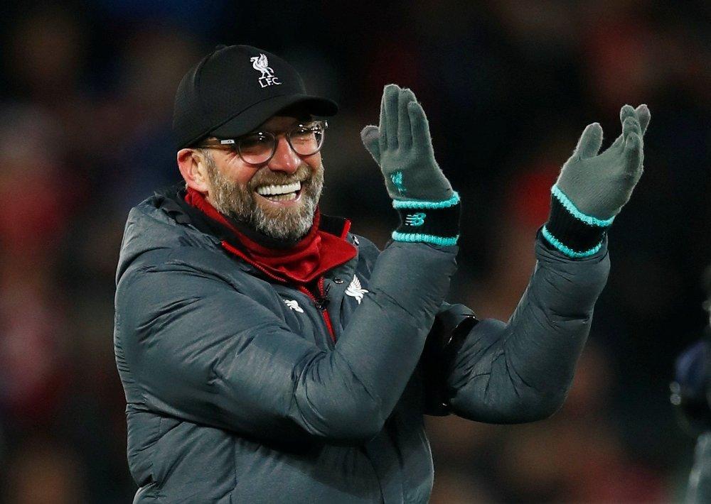Klikk på bildet for å forstørre. KAN GLISE BREDT: Jürgen Klopp og Liverpool innkasserte tre nye poeng da Bournemouth ble slått lørdag.