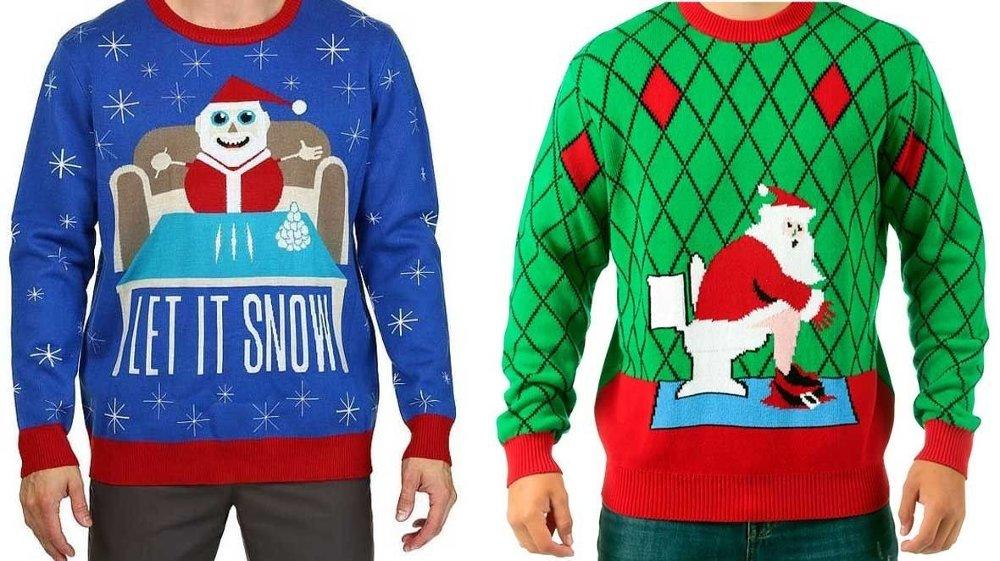 Klikk på bildet for å forstørre. Disse stygge julegenserne gikk for langt.