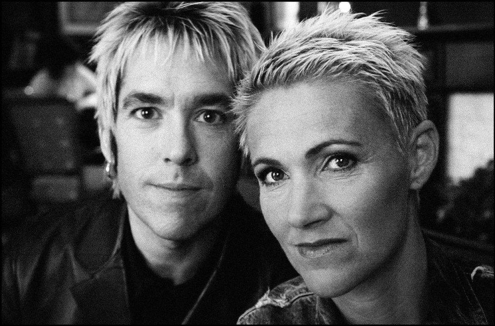 Klikk på bildet for å forstørre. OSLO 20010510: Den svenske popgruppen Roxette er tilbake! F.v.; artistene Per Gessle og Marie Fredriksson.