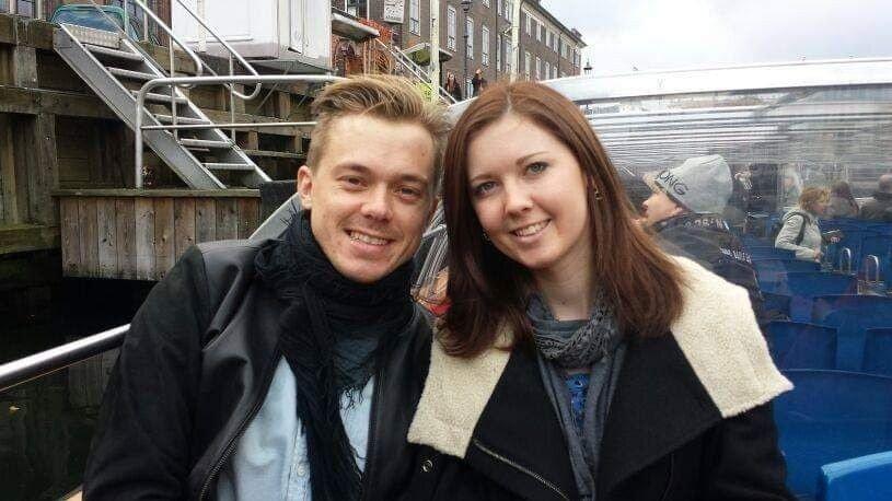 Klikk på bildet for å forstørre. AVSTAND: Even og Ruth hadde avstandsforhold mens Even tok master i København og Ruth jobbet i Manchester.