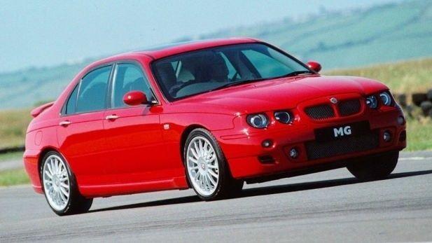 Klikk på bildet for å forstørre. Helt på tampen: Dette er sedanen MG ZT.
