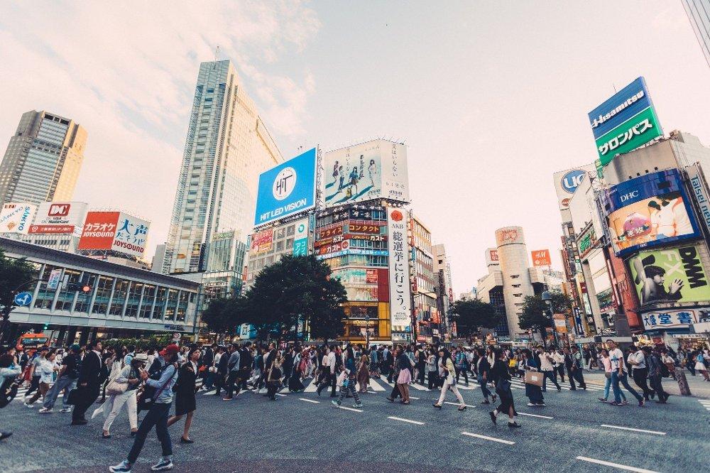 Klikk på bildet for å forstørre. Shibuya Crossing Most alive place in Tokyo,Shibuya crossing