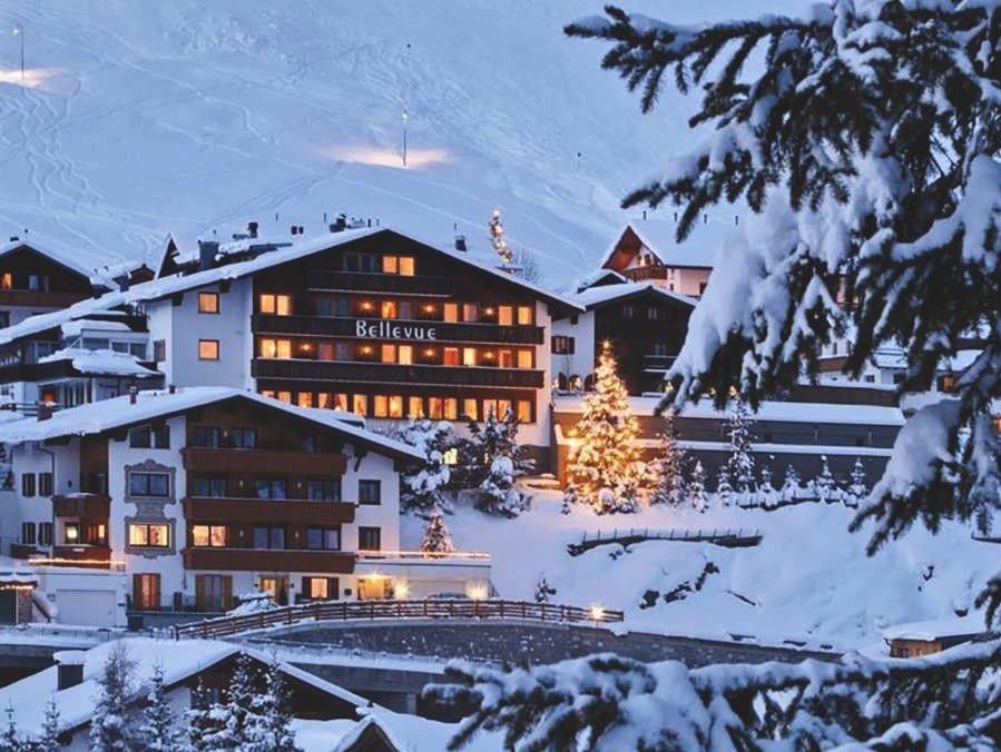 Klikk på bildet for å forstørre. Hotell Bellevue i Lech.