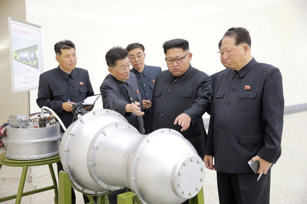 Klikk på bildet for å forstørre. Konflikten mellom USA og Nord-Korea kan raskt blusse opp igjen dersom sistnevnte gjenopptar rakettester og atomprøvesprengninger. Bildet viser landets leder Kim Jong-un.