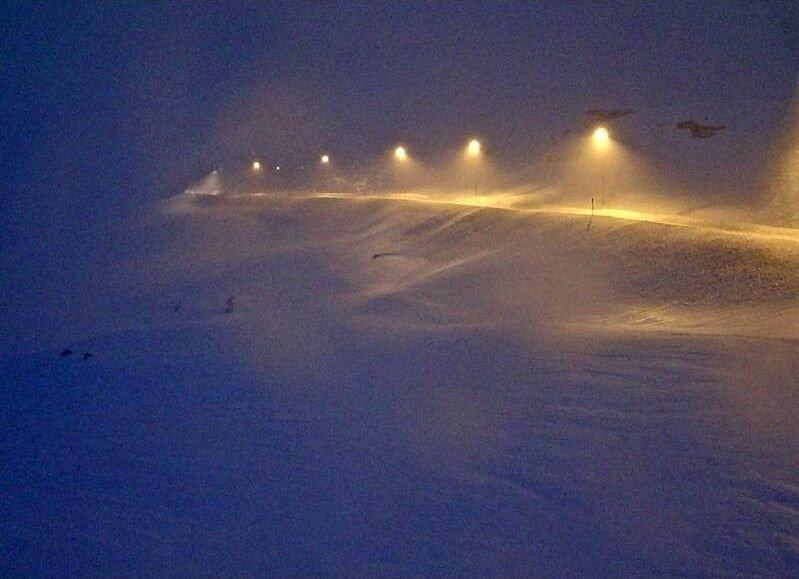 Klikk på bildet for å forstørre. E134 over Haukelifjell onsdag klokka 08.30.