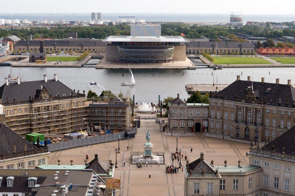 Klikk på bildet for å forstørre. Utsikt fra Amalienborg