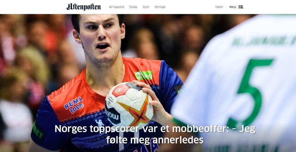 Klikk på bildet for å forstørre. SAKEN: Det er denne artikkelen i Aftenposten 22-åringen reagerer på.