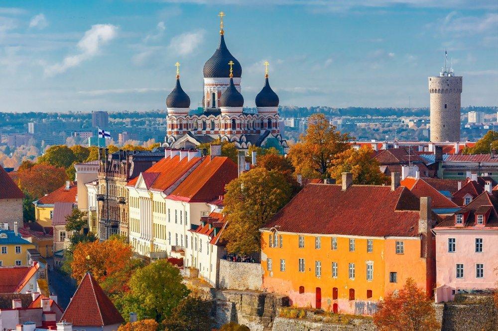 Klikk på bildet for å forstørre. Gamlebyen i Tallinn