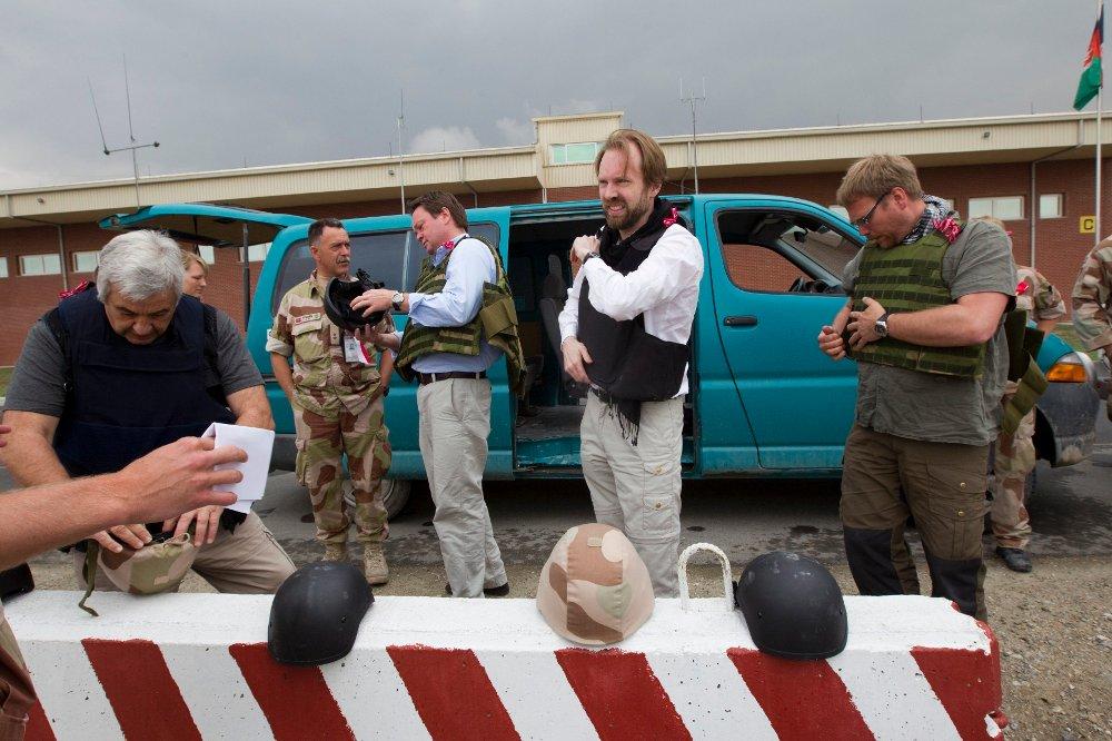 Klikk på bildet for å forstørre. Sigurd Falkenberg Mikkelsen i Kabul i mai 2010.