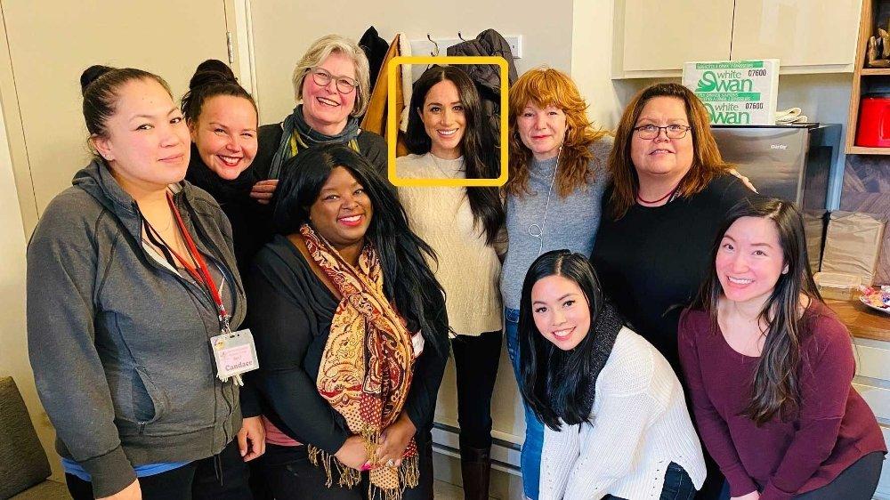 Klikk på bildet for å forstørre. Kvinnesenteret som Meghan besøkte i Canada, ligger i et fattig nabolag i Vancouver, og de tilbyr blant annet rådgivning og varme måltider for kvinner og barn.