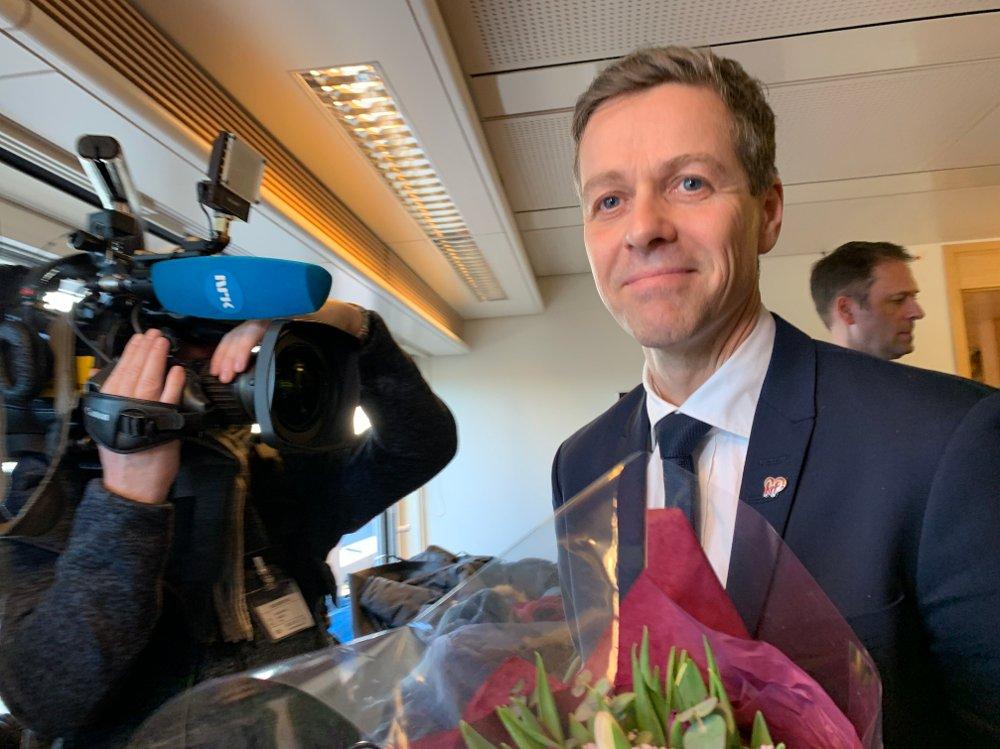 Klikk på bildet for å forstørre. Knut Arild Hareide er ny samferdselsminister.