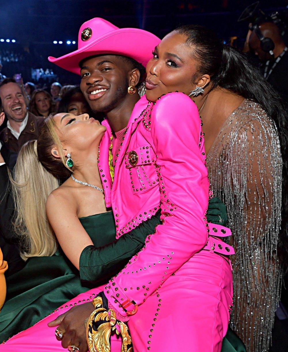 Klikk på bildet for å forstørre. Ariana Grande, Lil Nas X og Lizzo