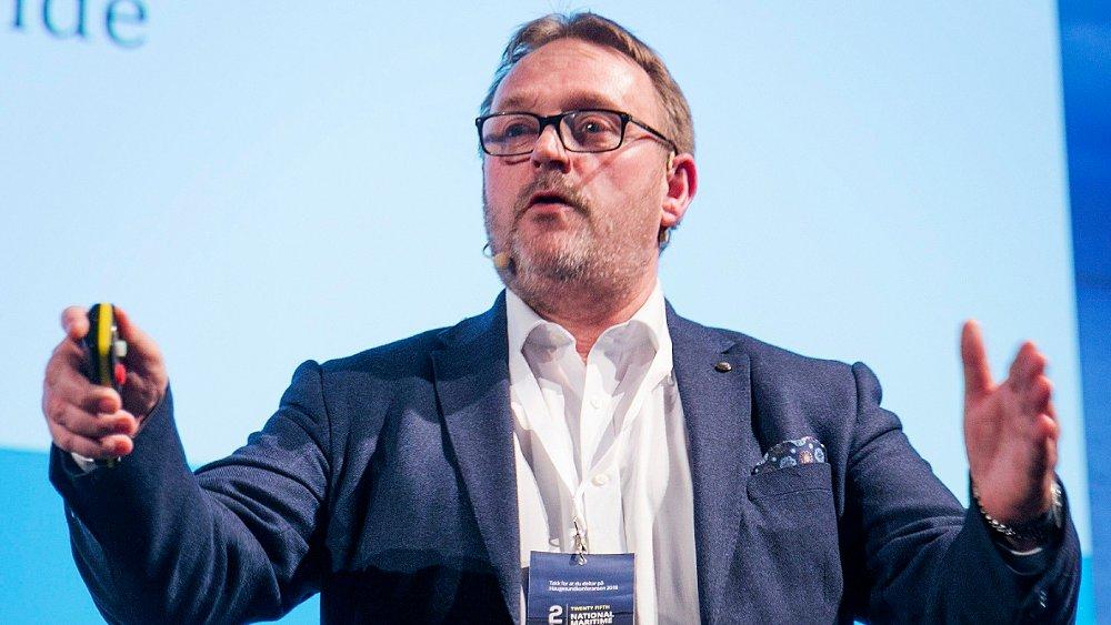 Klikk på bildet for å forstørre. Administrerende direktør Hans Sande i Norsk Sjøoffisersforbund.