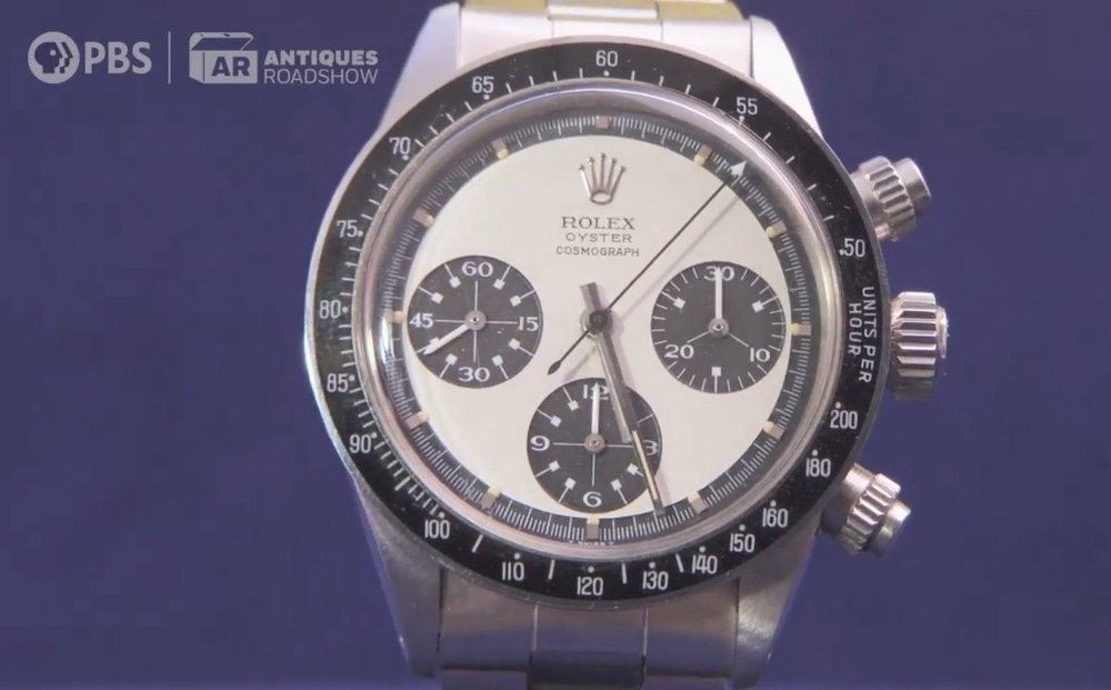 Klikk på bildet for å forstørre. Selve klokken, av typen Rolex Oyster Cosmograph, med referansenummer 6263, har aldri vært brukt.