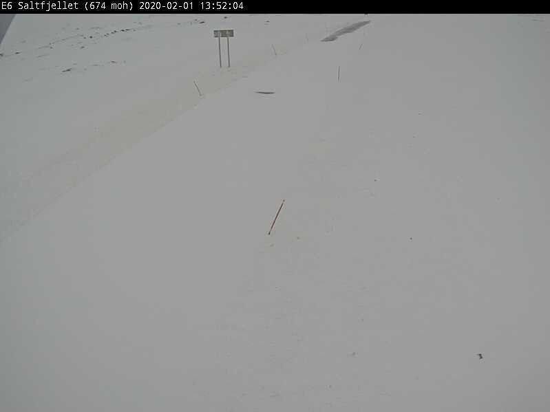 Klikk på bildet for å forstørre. E6 over Saltfjellet har vært stengt siden fredag.