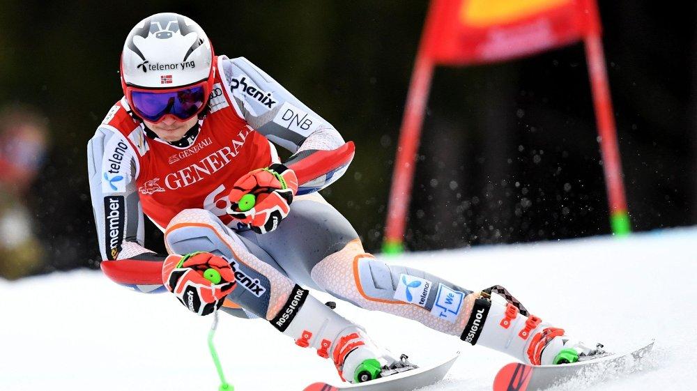 Klikk på bildet for å forstørre. Norway's Henrik Kristoffersen competes in the men's Giant Slalom event at the FIS Alpine Men's Skiing World Cup in Garmisch-Partenkirchen, southern Germany, on February 2, 2020.