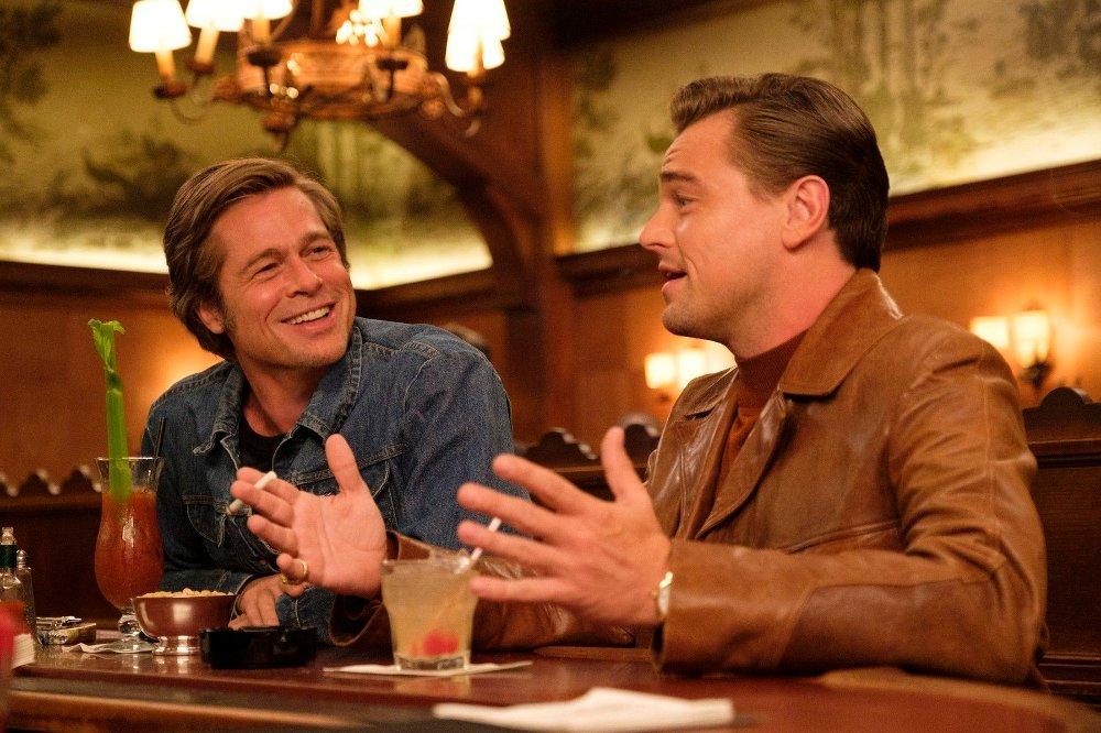 Klikk på bildet for å forstørre. SAG Awards Nominees This image released by Sony Pictures shows Brad Pitt, left, and Leonardo DiCaprio in Quentin Tarantino's