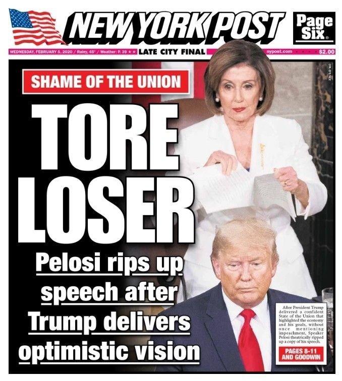 Klikk på bildet for å forstørre. Forsiden til New York Post på onsdag.