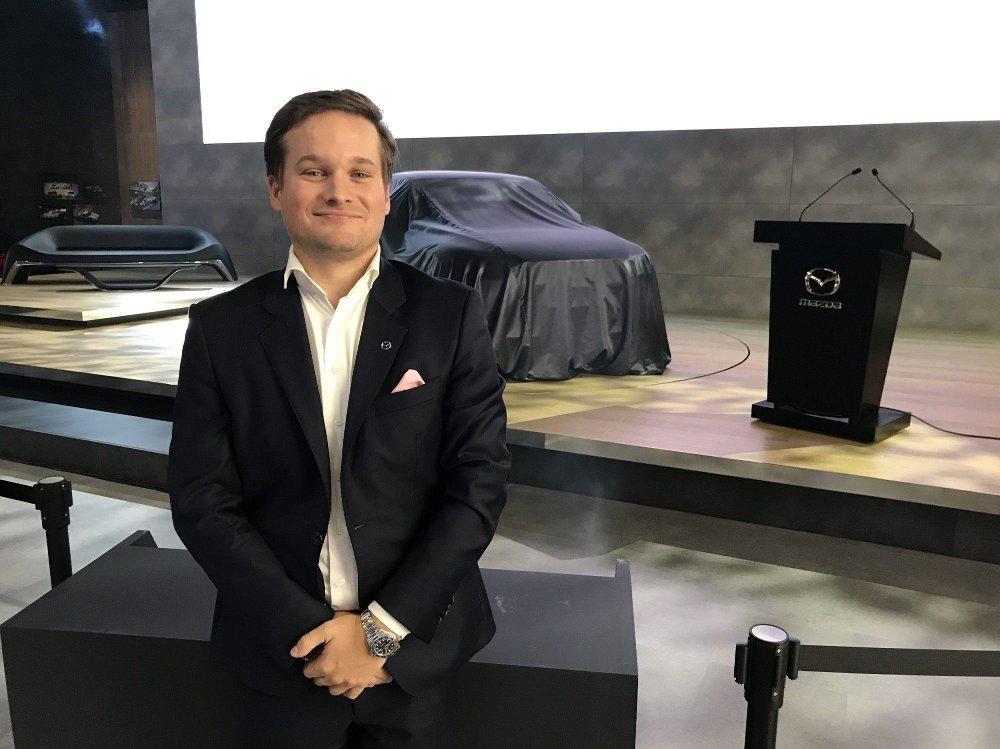 Klikk på bildet for å forstørre. Petter Chr. Grüner Brinch i Mazda tror MX-30 kan bli bestselgeren i Norge.