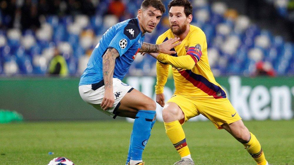 Klikk på bildet for å forstørre. STJERNEN: Lionel Messi spilte på Diego Maradonas gamle hjemmebane.
