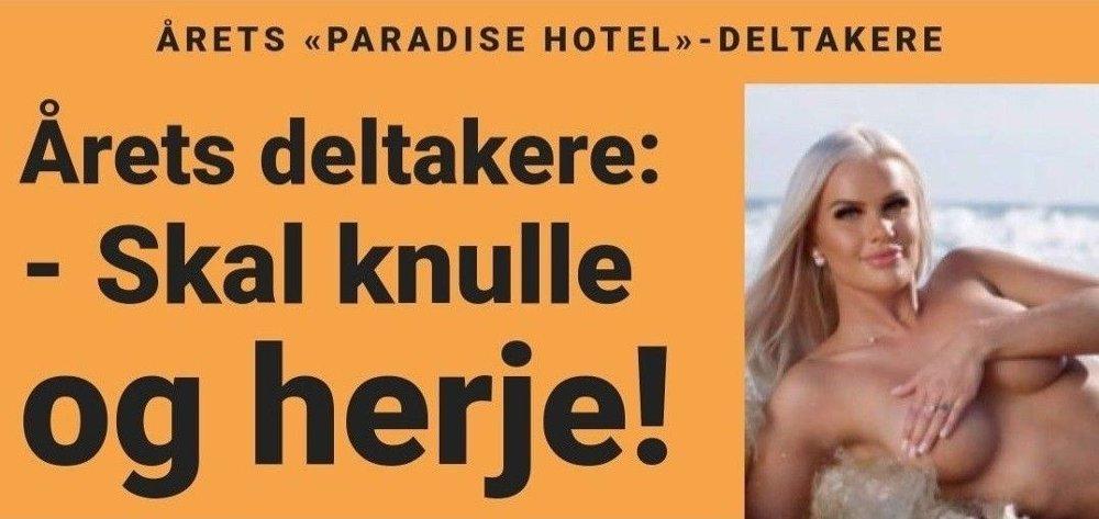 Klikk på bildet for å forstørre. «KNULLE OG HERJE»: Slik så det ut på fronten til Dagbladet tirsdag ettermiddag.