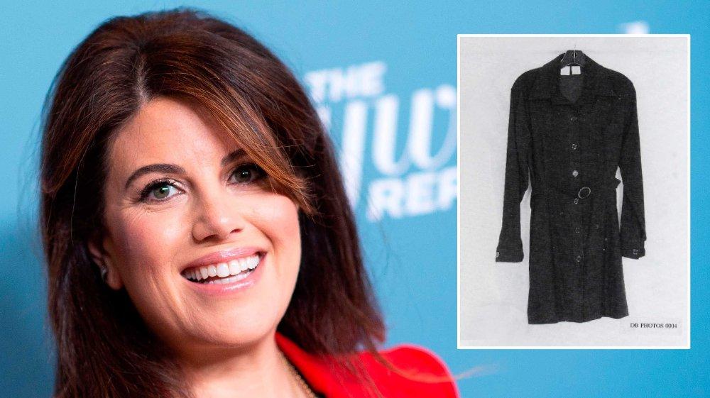 Klikk på bildet for å forstørre. Her Monica Lewinsky og kjolen hun hadde på seg da hun hadde sex med Bill Clinton