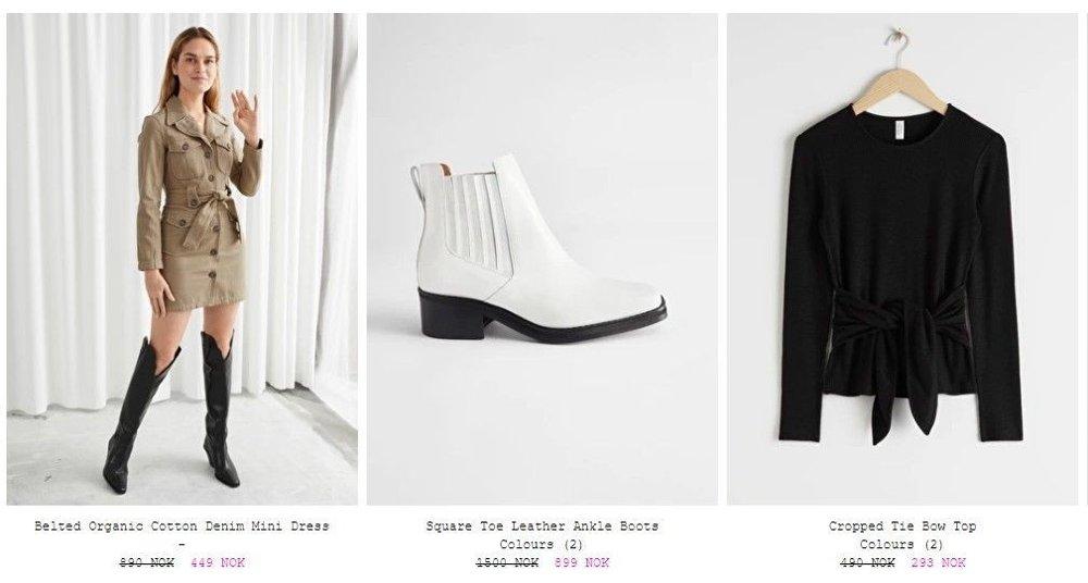 Klikk på bildet for å forstørre. & Oher Stories er en ny butikk som kom i 2013. På salget deres er deet svært mange varer for kvinner. Alt fra sko til kjoler, undertøy og bukser.