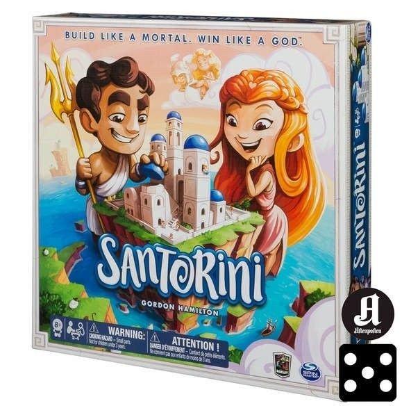 Klikk på bildet for å forstørre. Ett av spillene på salg er testvinneren Santorini