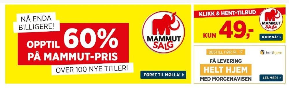 Klikk på bildet for å forstørre. Skjermbilde av norli sitt salg.