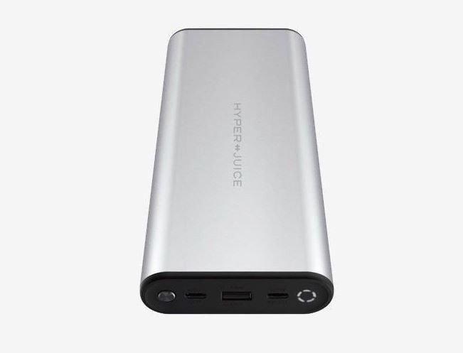 Klikk på bildet for å forstørre. Hyperjuice USB-C Powerbank for datamaskin og mobil 27000 mAh Sølv