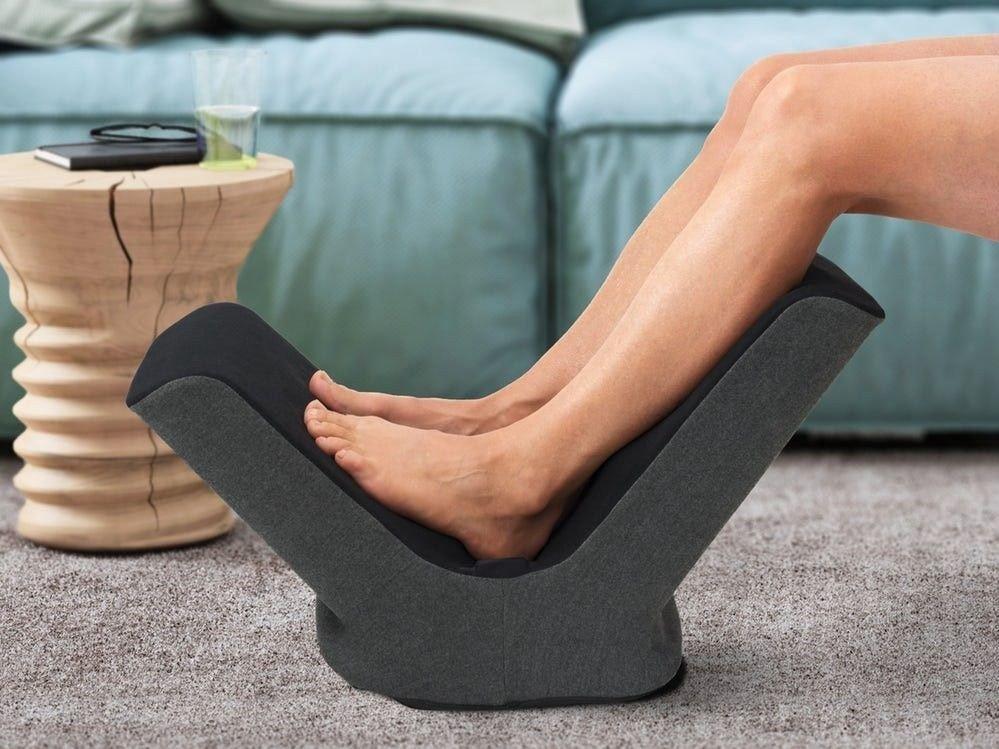 Klikk på bildet for å forstørre. Expain er nydelig for stive og ømme føtter, og både varmer og masserer føttene.