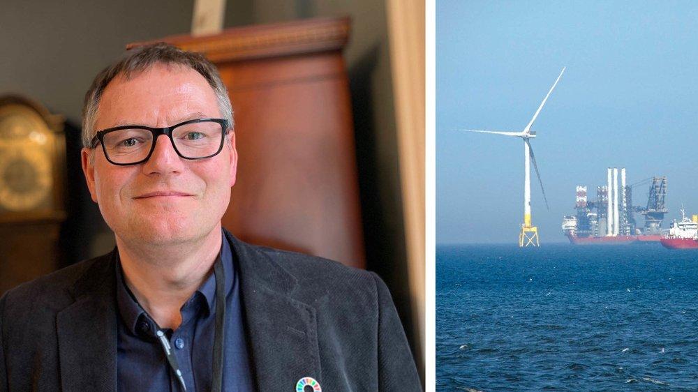 Klikk på bildet for å forstørre. Havvind-ekspert Frank Emil Moen er daglig leder i Energy Innovation. Han spår mange nye arbeidsplasser innen flytende havvind de kommende årene.