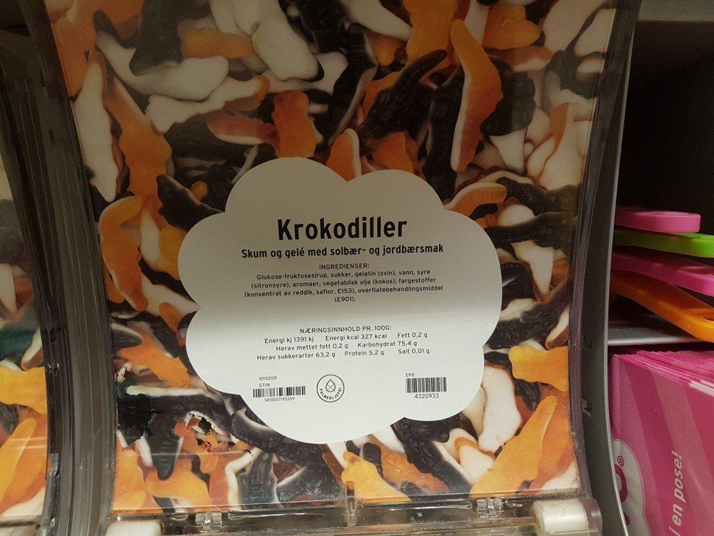 Klikk på bildet for å forstørre. BEVISET: Det er ulik smak på krokodillene.