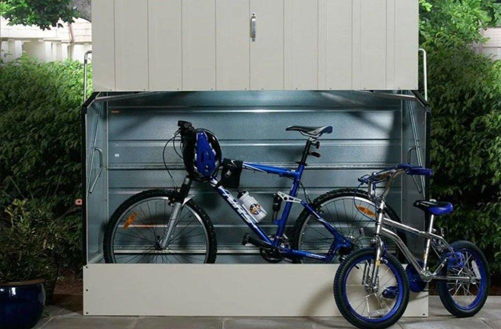 Klikk på bildet for å forstørre. Oppbevaringsboks for sykler