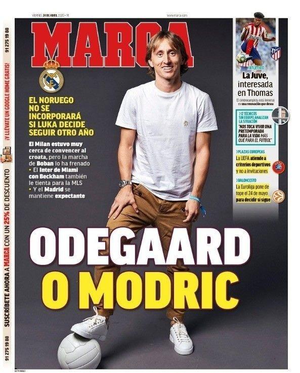 Klikk på bildet for å forstørre. ØDEGAARD ELLER MODRIC: Marca hevder Real Madrid ikke kommer til å hente Martin Ødegaard tilbake fra Real Sociedad i sommer, dersom Luke Modric tar sen sesong til i klubben.