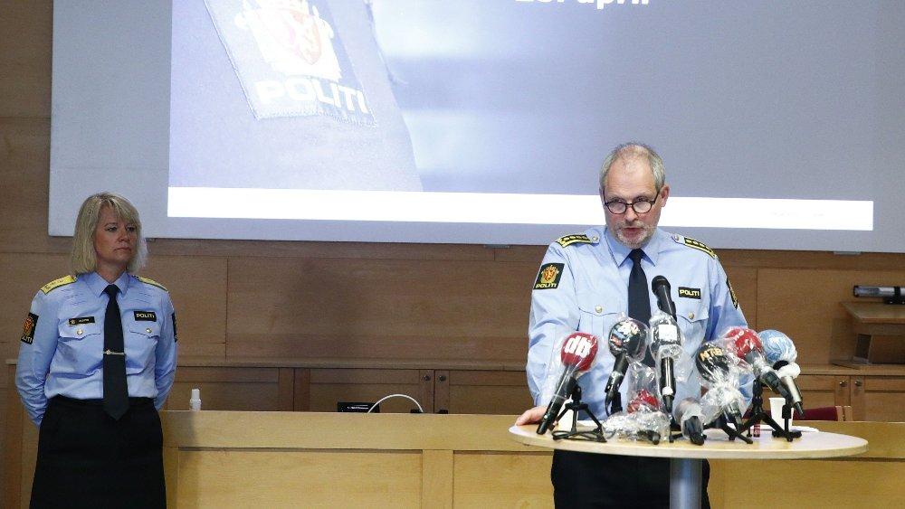 Klikk på bildet for å forstørre. HAGEN-FORSVINNINGEN: Øst politidistrikt holder pressekonferanse om Lørenskog-saken, etter at Anne-Elisabeth Hagens ektemann Tom Hagen ble pågrepet i en politiaksjon i Lørenskog. Hans kone har vært savnet i halvannet år.
