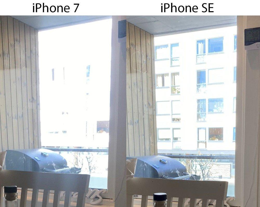 Klikk på bildet for å forstørre. iPhone SE klarer å hente opp mer informasjon i bilder med store kontraster.