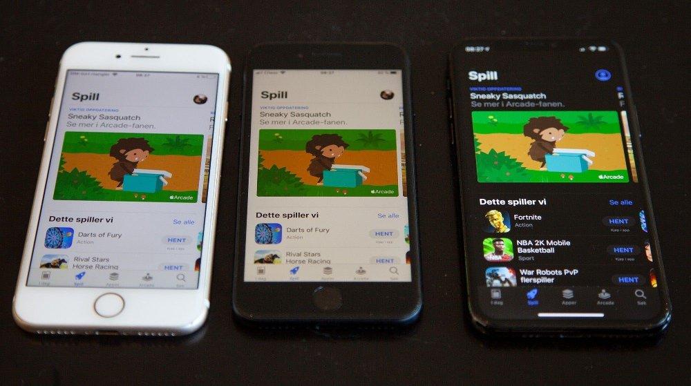 Klikk på bildet for å forstørre. AppStore er likt uavhengig av hvilken Apple-modell du velger.