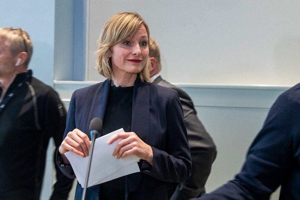 Klikk på bildet for å forstørre. Oslo 20200311. Oppvekst- og kunnskapsbyråd Inga Marte Thorkildsen orienterer om håndtering av koronaviruset og presentere nye tiltak knyttet til koronasmitte i Oslo.
