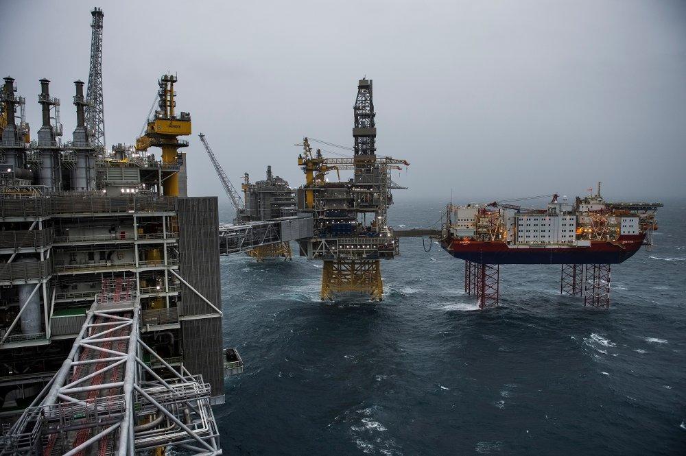 Klikk på bildet for å forstørre. Oljeproduksjonen i Nordsjøen kan komme under press med de lave oljeprisene. På bildet ser vi Johan Sverdrup-feltet i Nordsjøen som ble åpnet i januar i år.