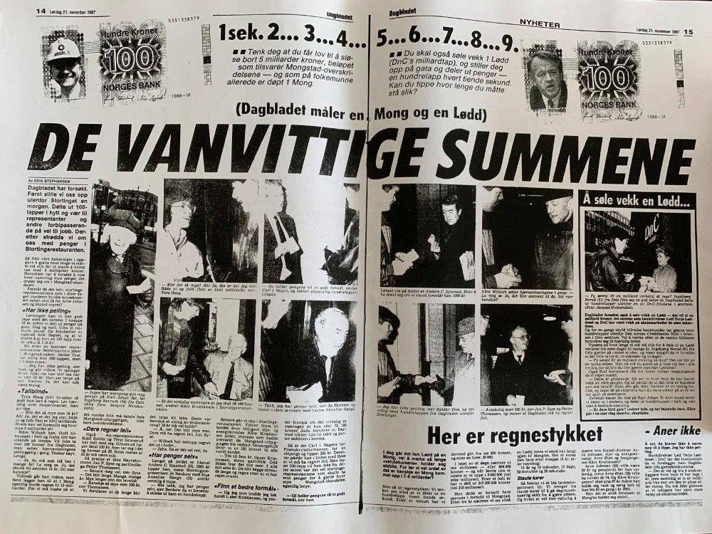 Klikk på bildet for å forstørre. Faksimile Dagbladet