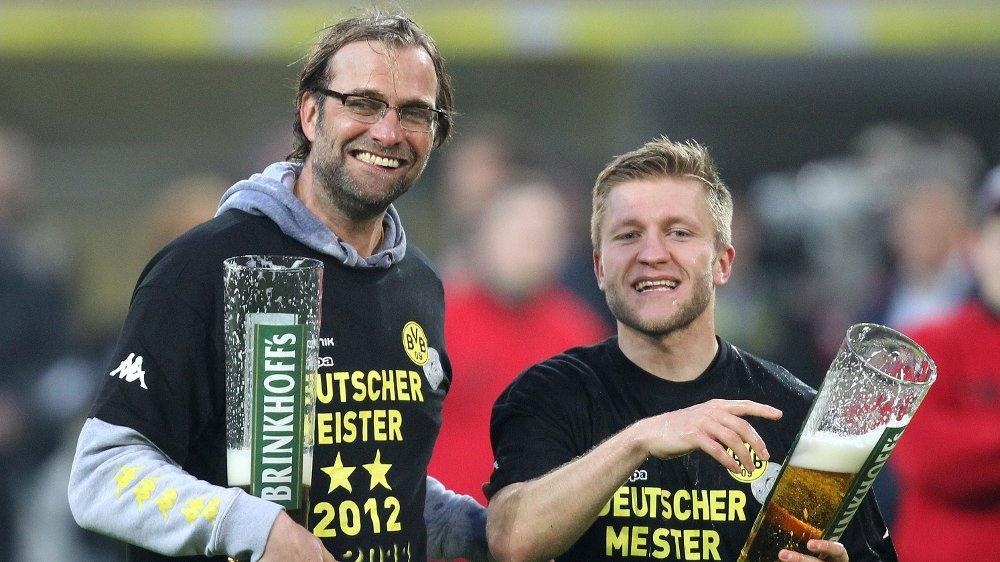 Klikk på bildet for å forstørre. IKKE ALLTID GOD STEMNING: Jakub Blaszczykowski og Jürgen Klopp hadde sine krangler i Borussia Dortmund.