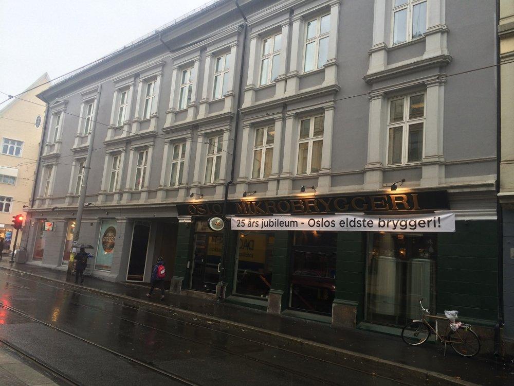 Klikk på bildet for å forstørre. Bilde av fasade Oslo mikrobryggeri på Grünerløkka.