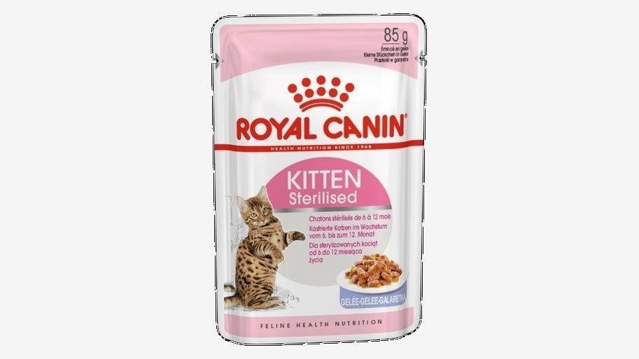 Klikk på bildet for å forstørre. Royal Canin Kitten Sterilised Jelly